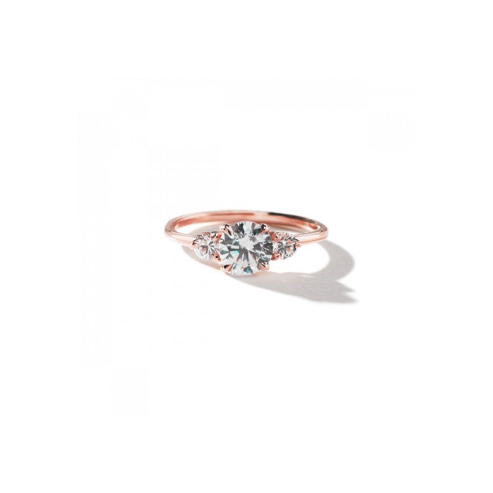 ILA 3 Stone Ring in Rose Gold