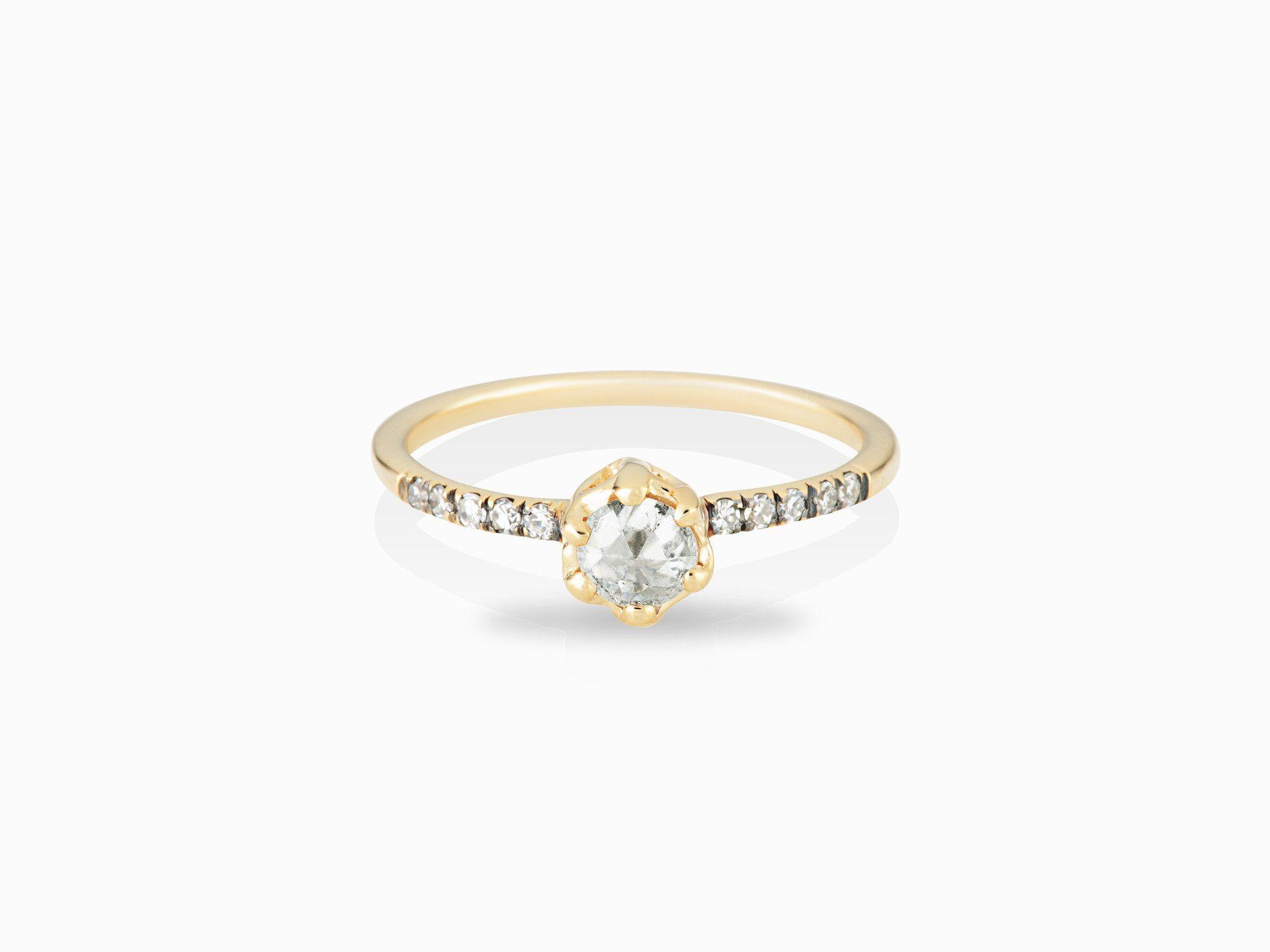 Small diamond engagement ring