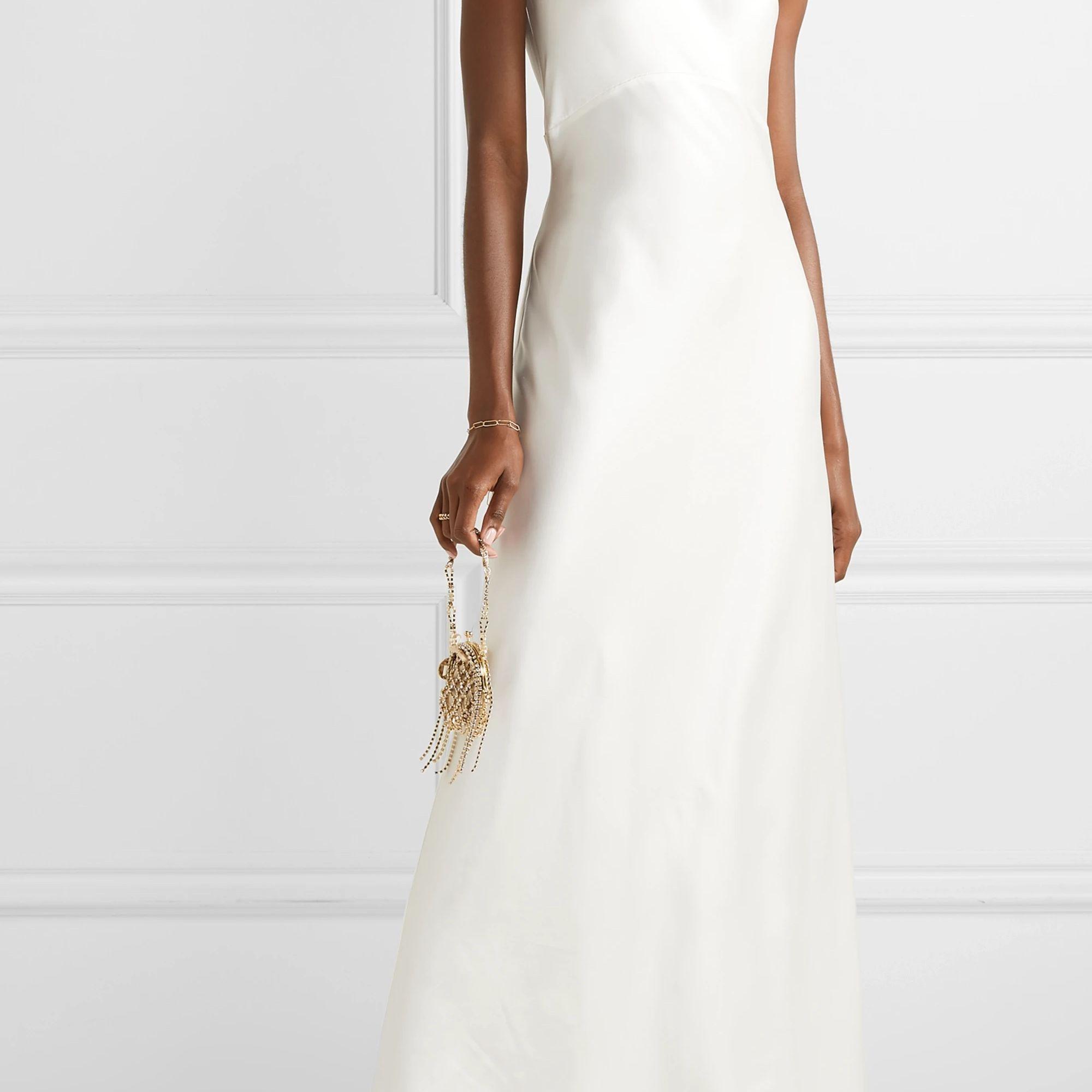 Les Reveries Silk-Charmeuse Halterneck Gown