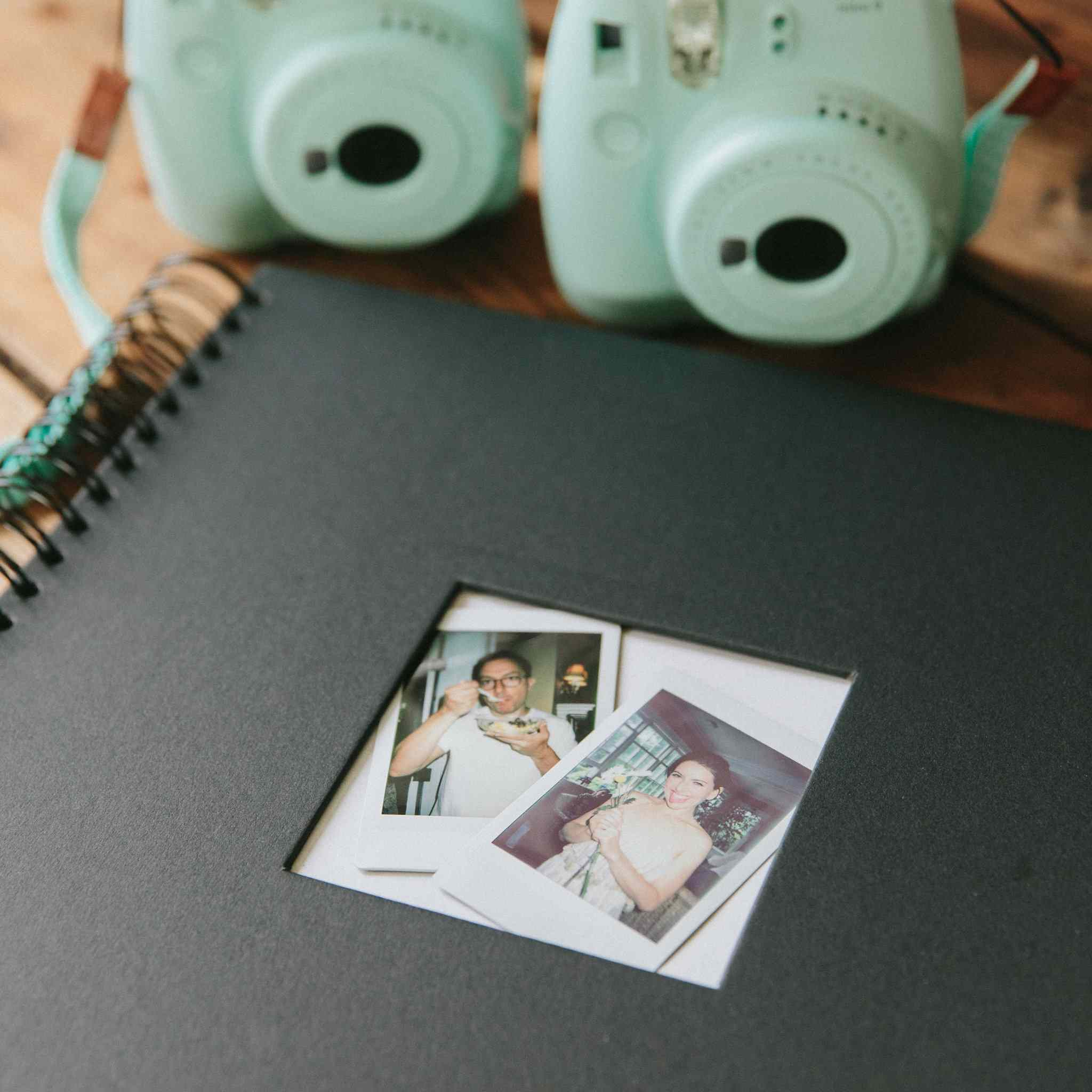 <p>polaroid guest book</p>