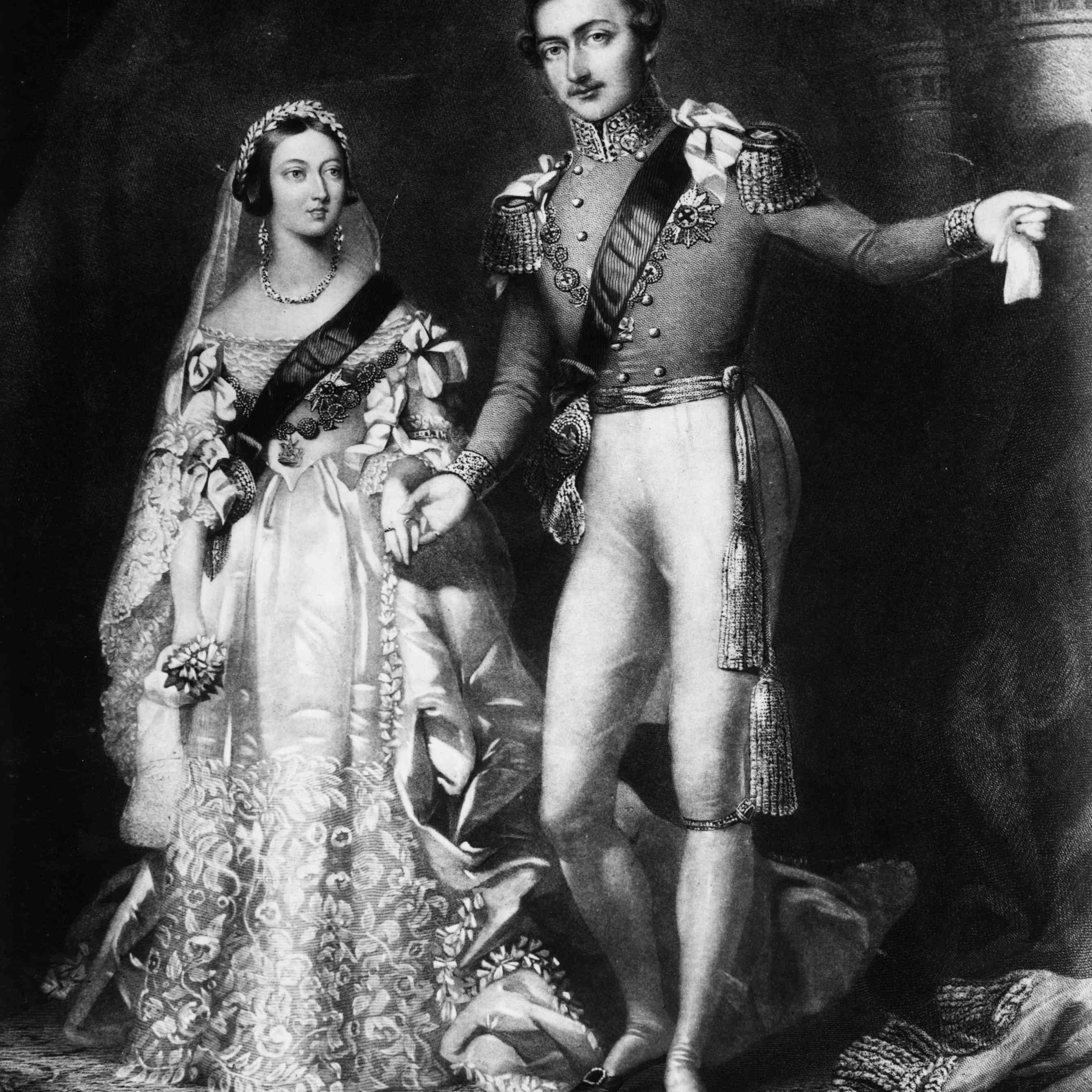 Queen Victoria and Prince Albert on their return from their wedding