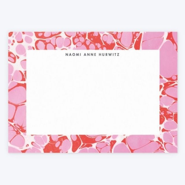 Papier Pink Motel Personalize Notecard Set