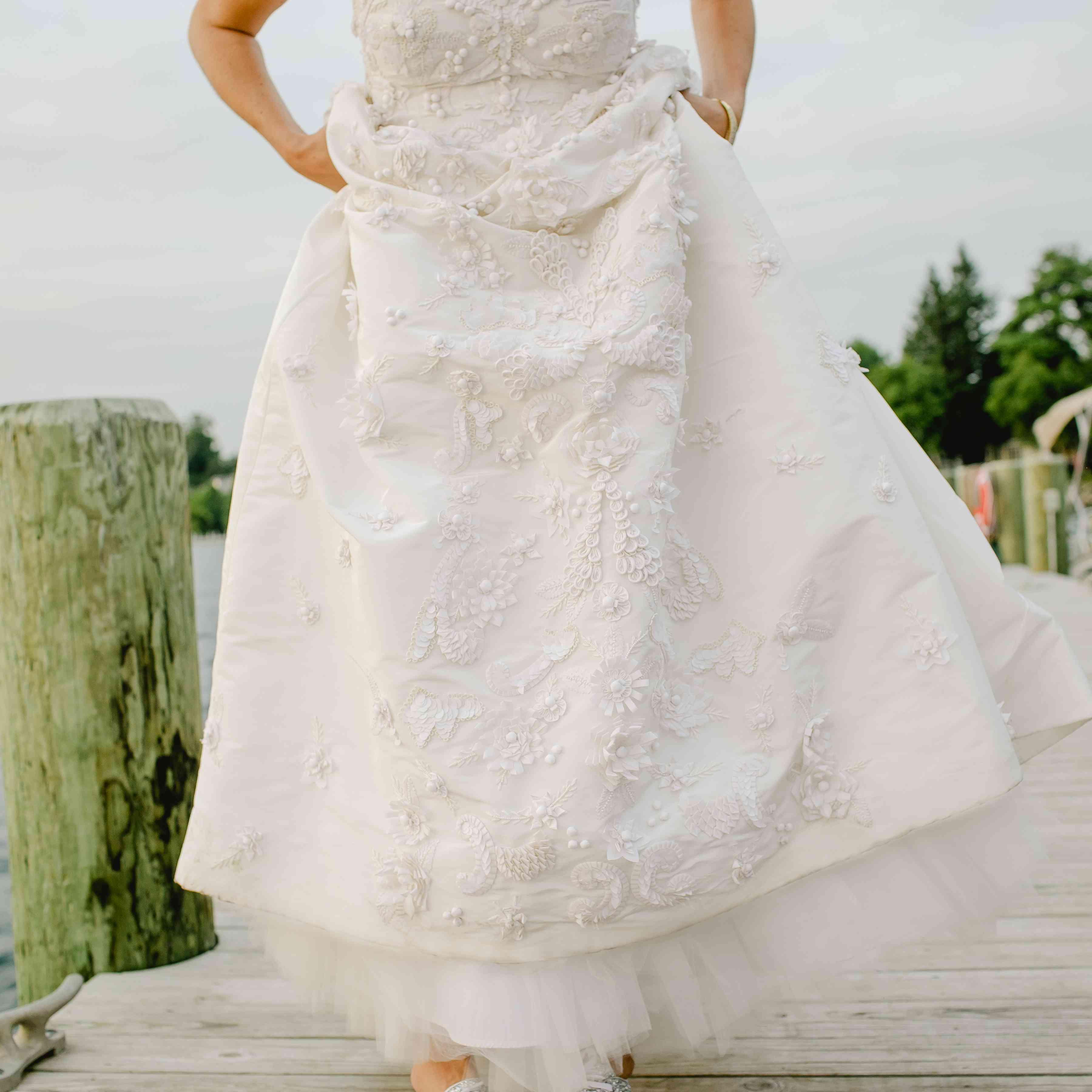 bride sparkly sneakers