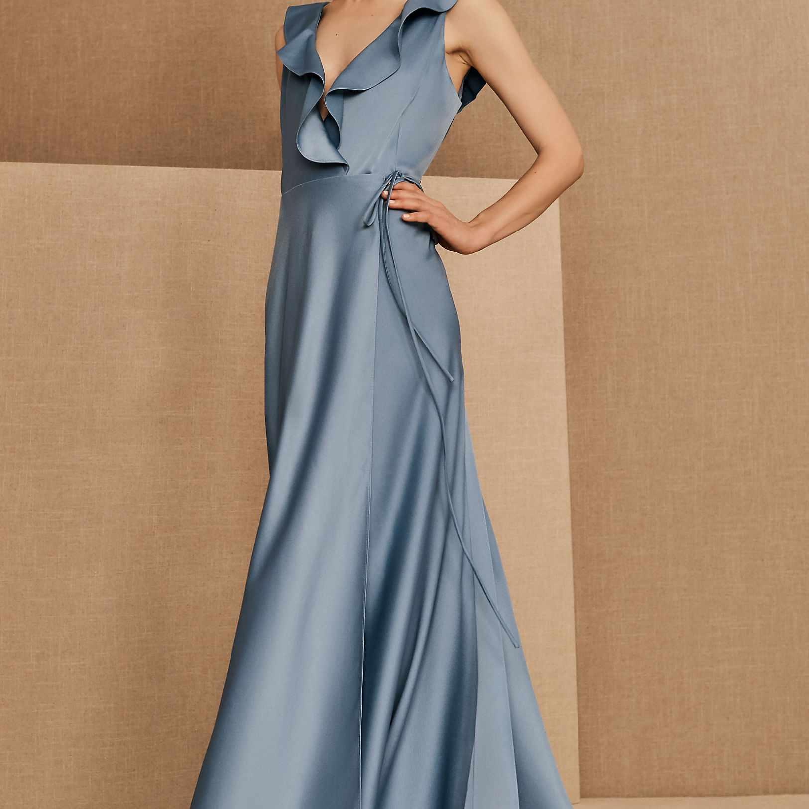 BHLDN Tansy Satin Maxi Dress, $220