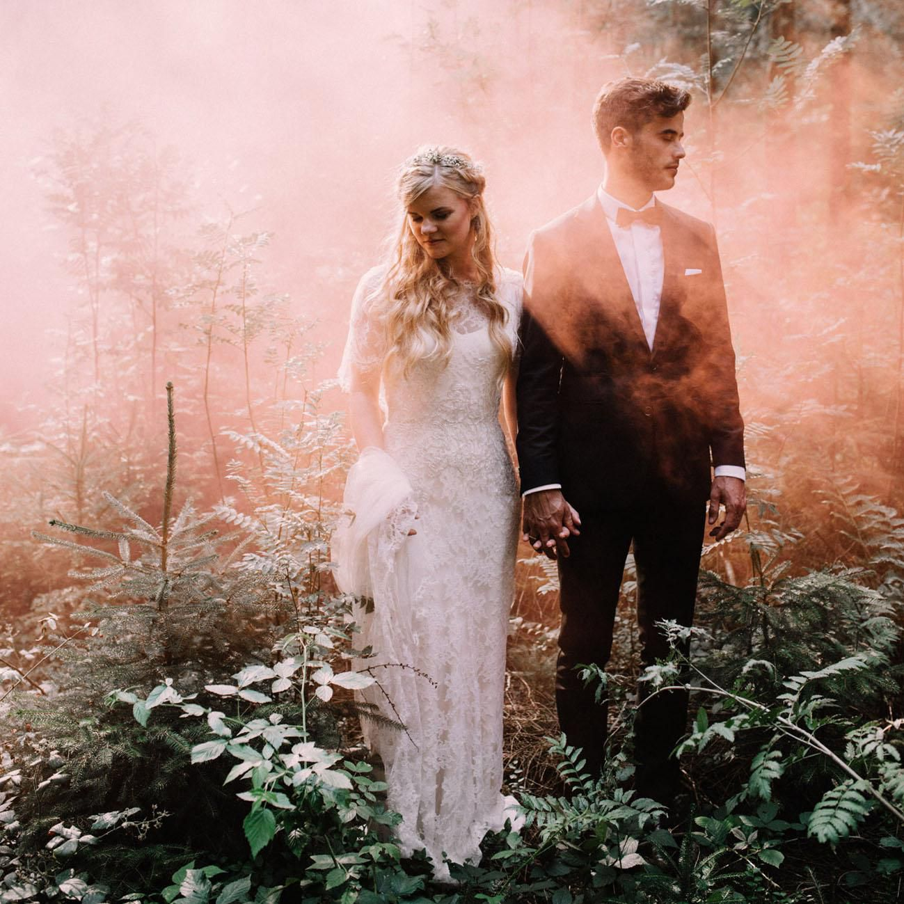 25 Cool Colorful Reasons You Need Smoke Bombs In Your Wedding