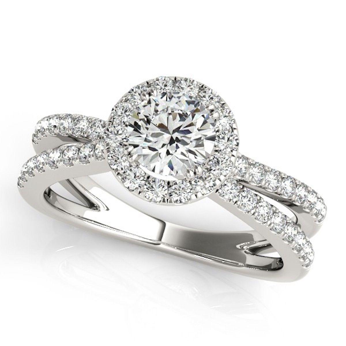 Allurez Diamond Frame Engagement Ring