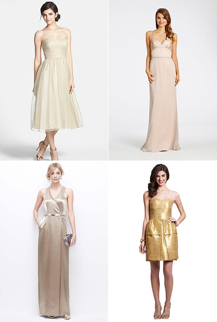 Golden Bridesmaid Dresses Uk
