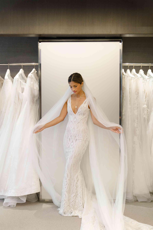 dress with veil