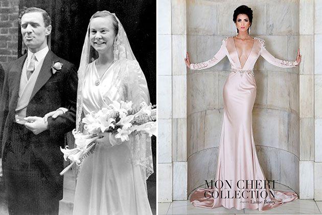 1940s wedding dress made modern
