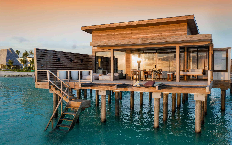 outdoor villa on water