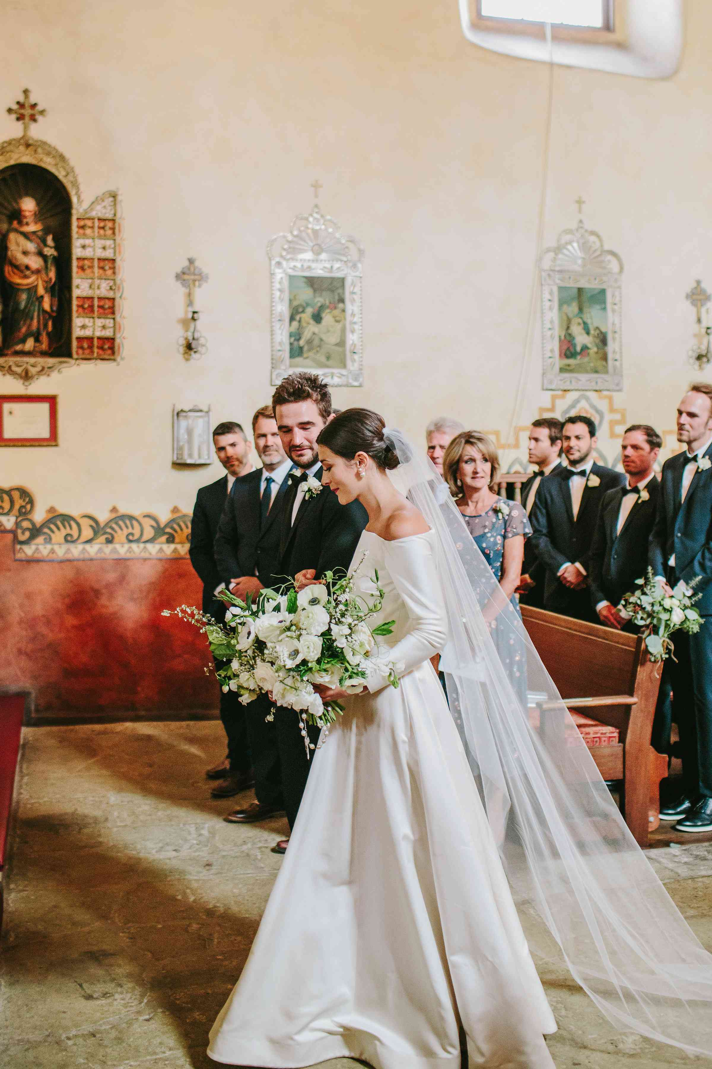 <p>bride being given away by brother</p><br><br>