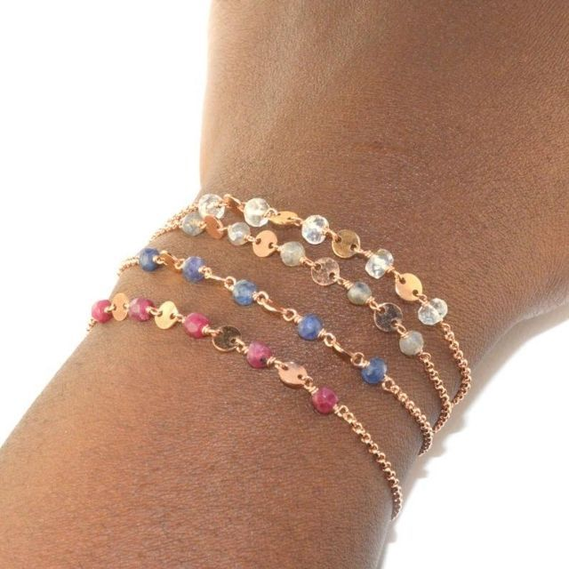 AquarianThoughts Rose Gold Dainty Chain Bracelet