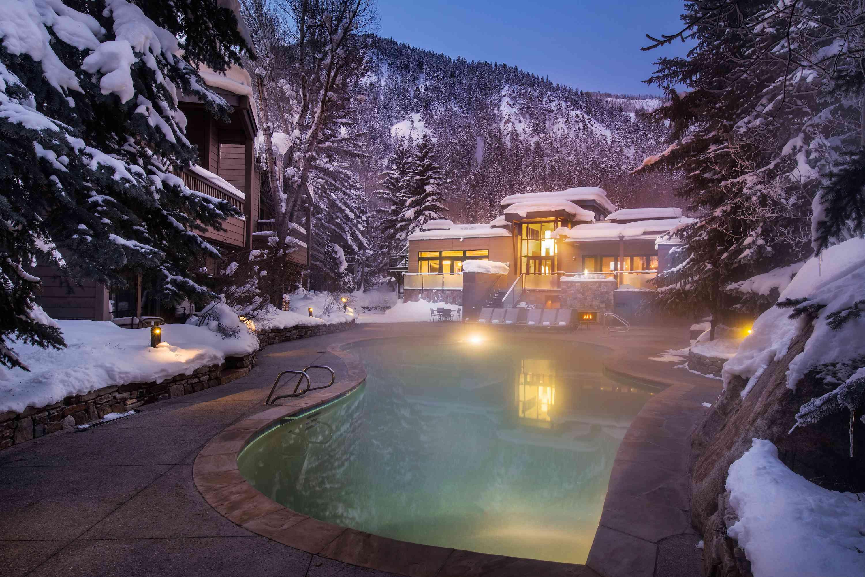 outdoor pool in winter