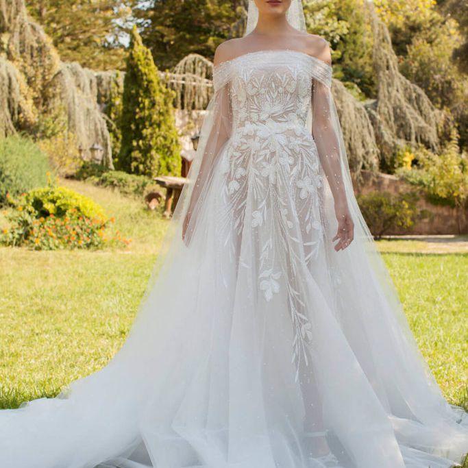 50 Trendy Off The Shoulder Wedding Dresses