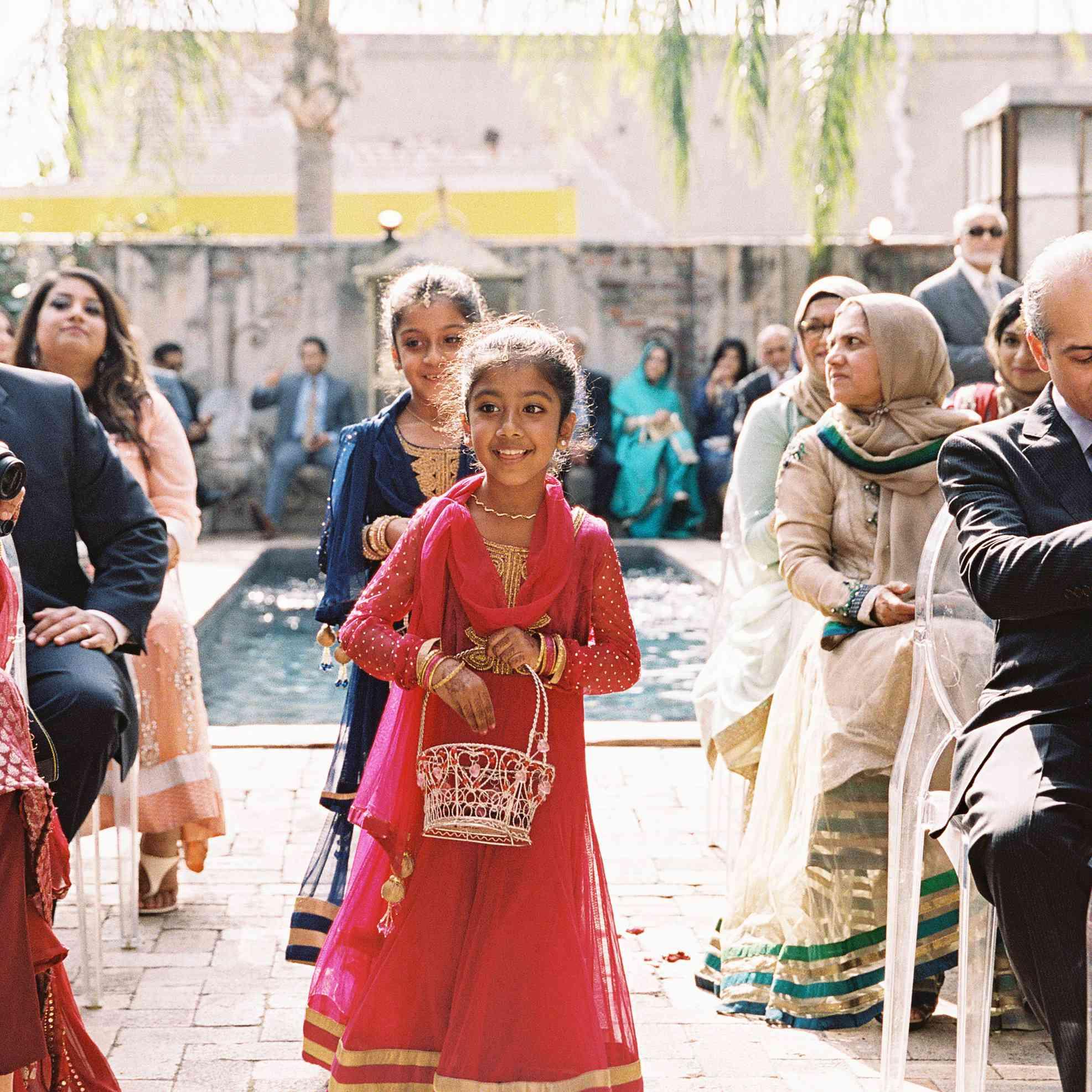 Flower Girl at Indian Wedding