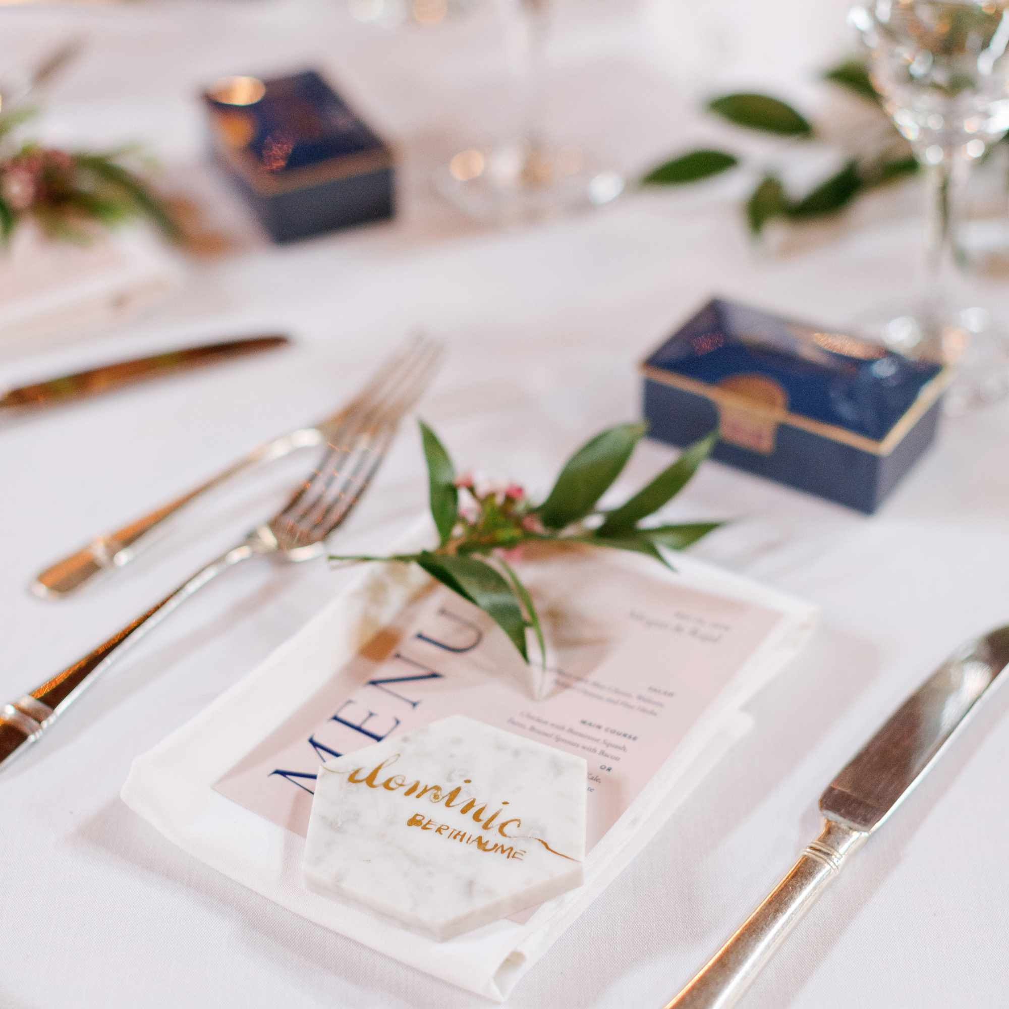 place setting with coaster