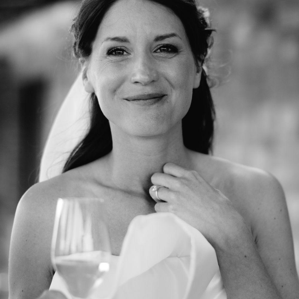 ruffled wedding dress