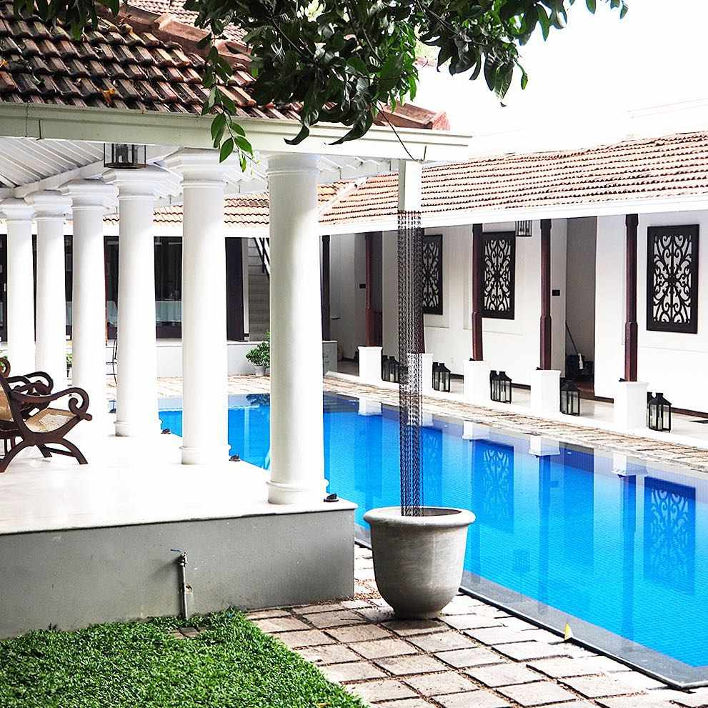 A view of the pool at Uga Residence in Colombo, Sri Lanka.