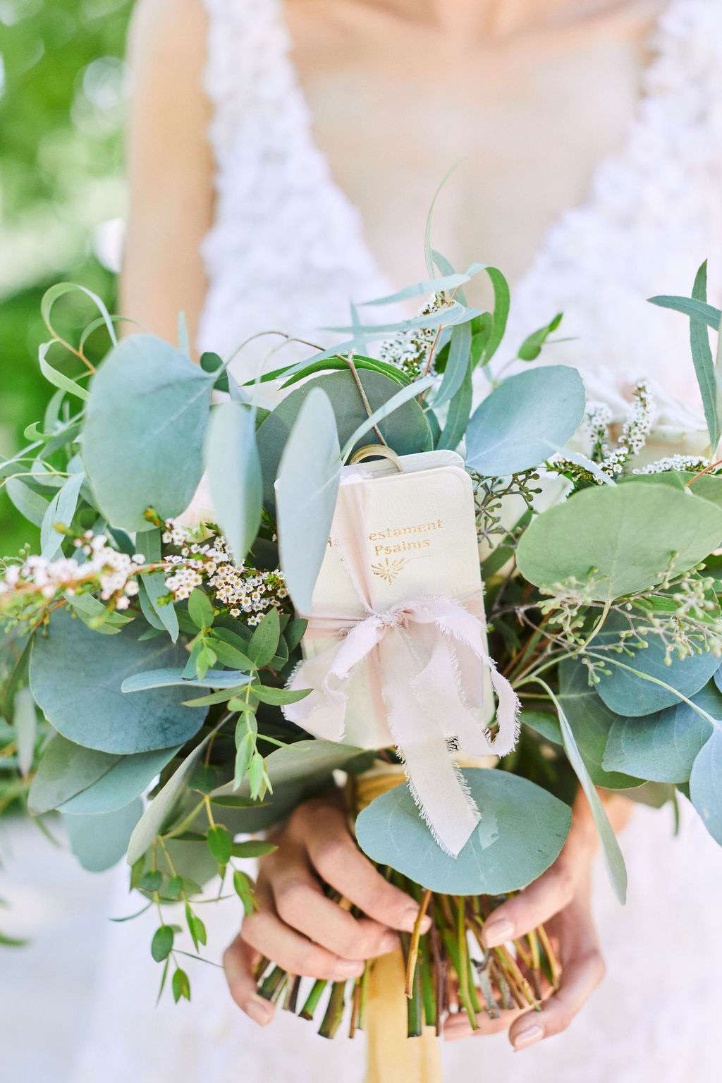 bouquet with bible