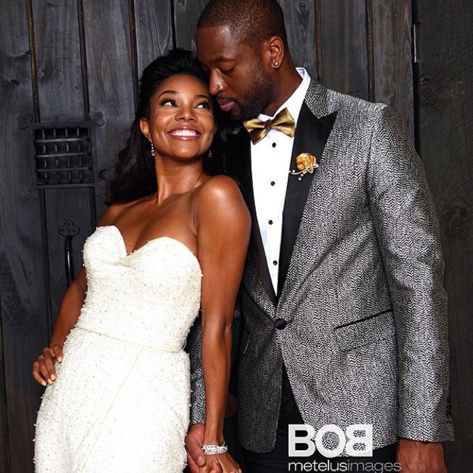 Gabrielle Union marries Dwyane Wade in Dennis Basso, 2014