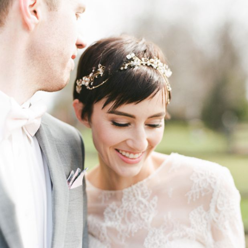 24 Wedding Hairstyles For Short Hair