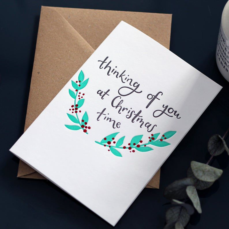 Hunter Paper Co. Thinking of You at Christmas Time Card
