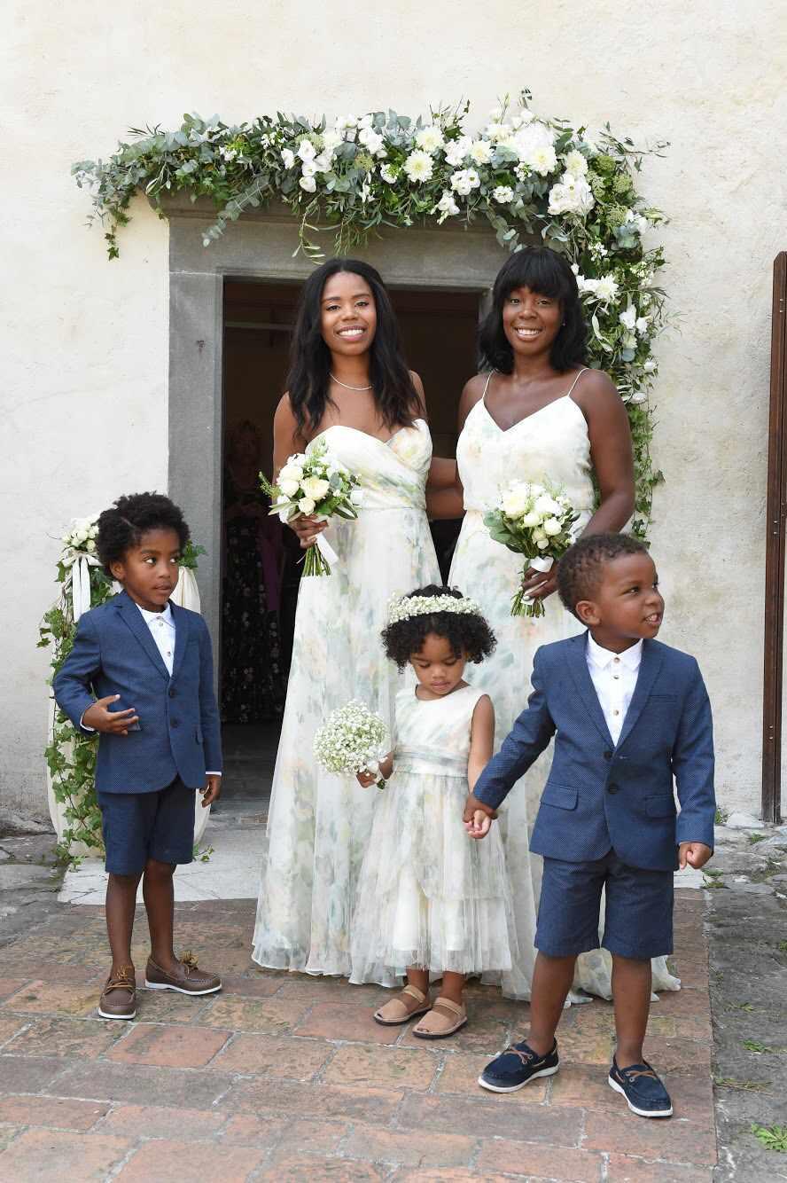 Bridesmaids and ringbearers