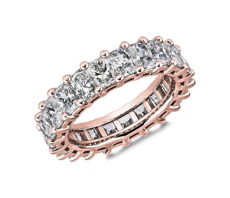 Blue Nile Classic Radiant-Cut Diamond Eternity Ring
