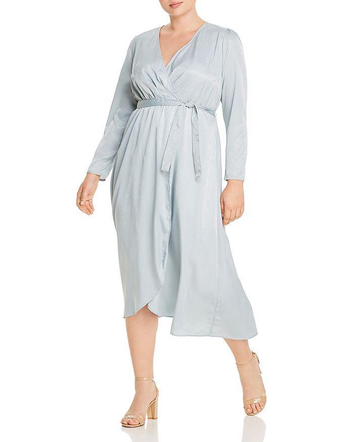 Vero Moda Curve Julia Micro Snakeskin Print Wrap Dress $79, on sale $55.30
