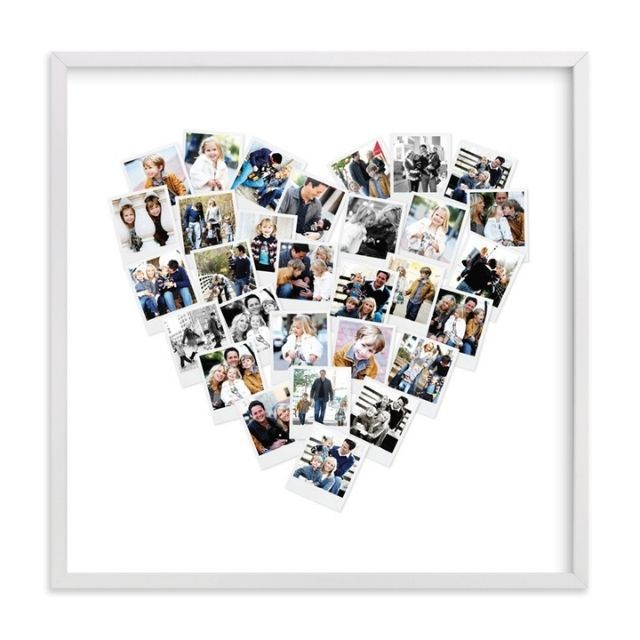 Minted Heart Snapshot Mix Photo Art