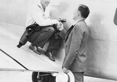 Amelia Earhart and husband