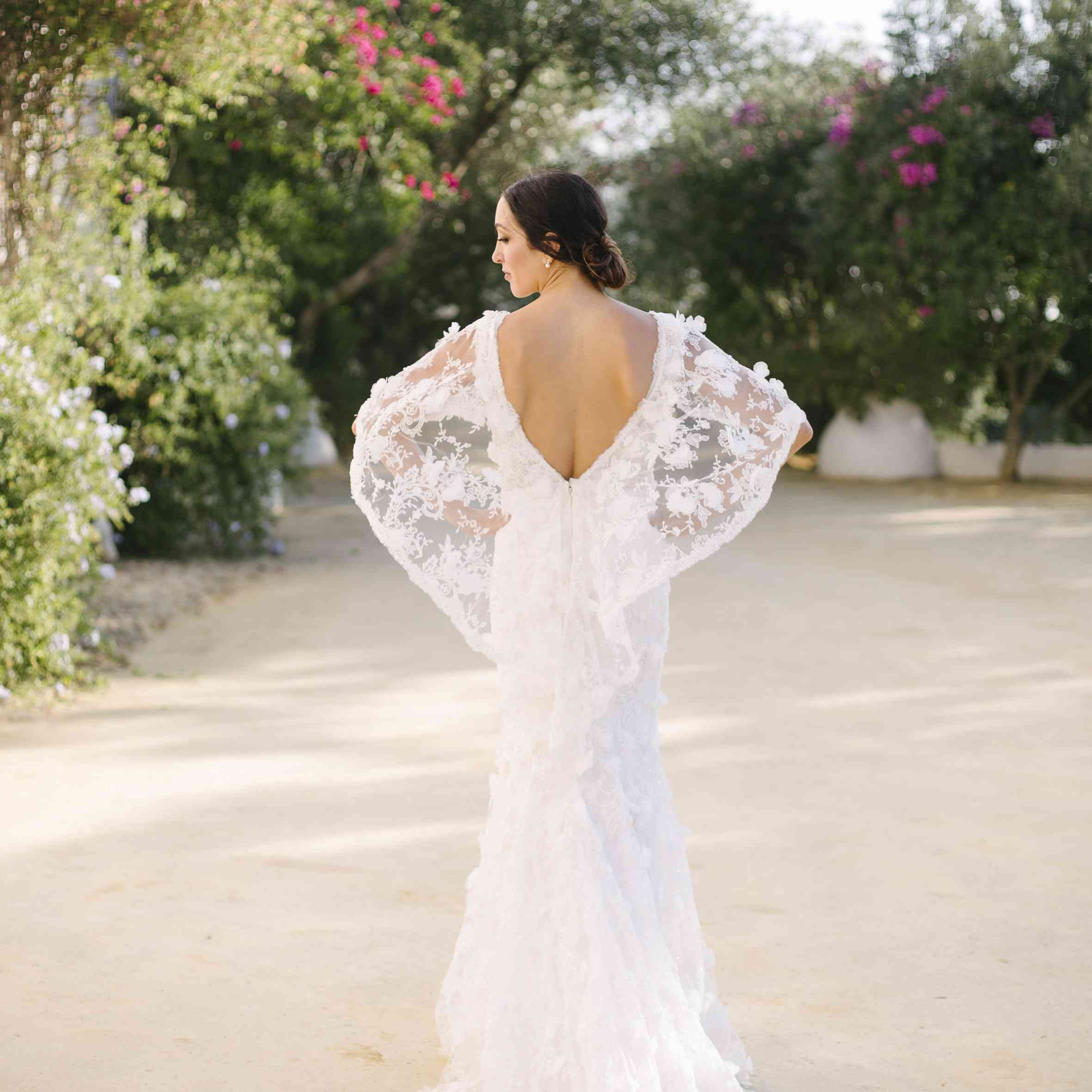 Bride from back