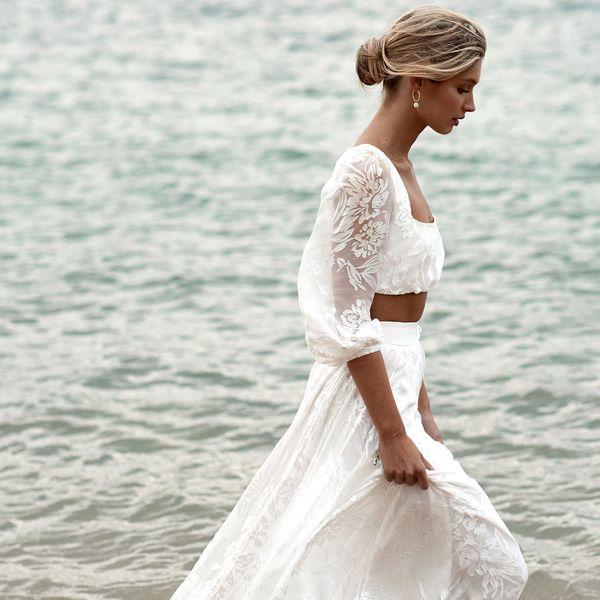 hippiechic wedding dress bohemian wedding on the beach rustic wedding hippie wedding dress vintage style bride Bohemian wedding dress