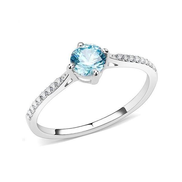 Blue Steel Stainless Steel Ring
