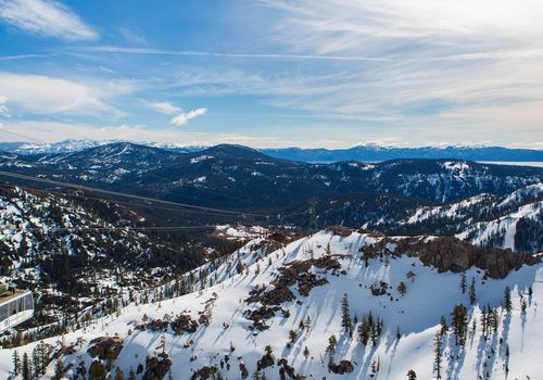 Snow-topped mountains