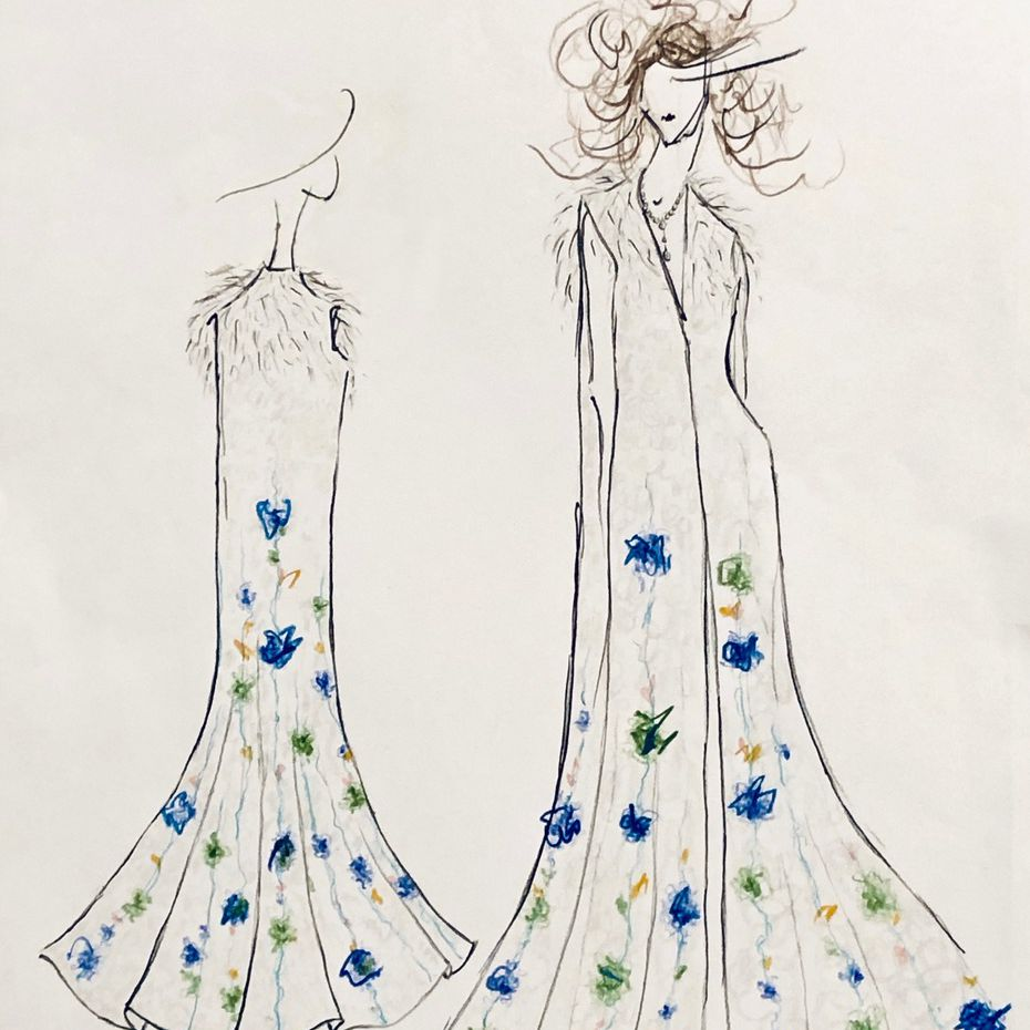 Monica Byrne Bridal Fashion Week Fall 2020 Sketch