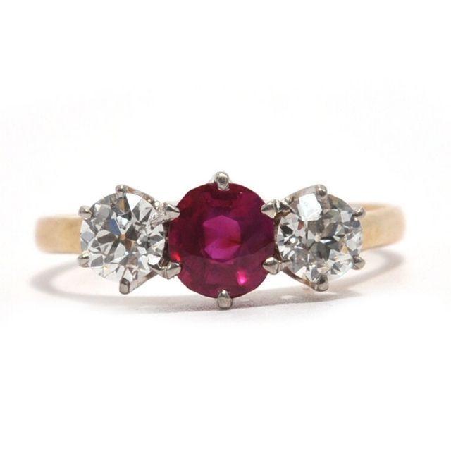 Ashley Zhang Francine Burmese Ruby and Diamond Ring
