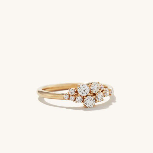 small diamond cluster ring