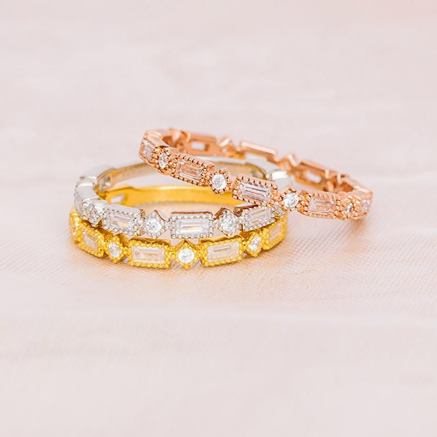 62 Extraordinary Baguette Wedding Bands For Every Style