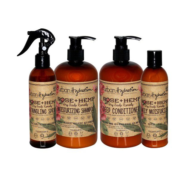 Rose And Hemp Hair Care Set (4-Piece Set)