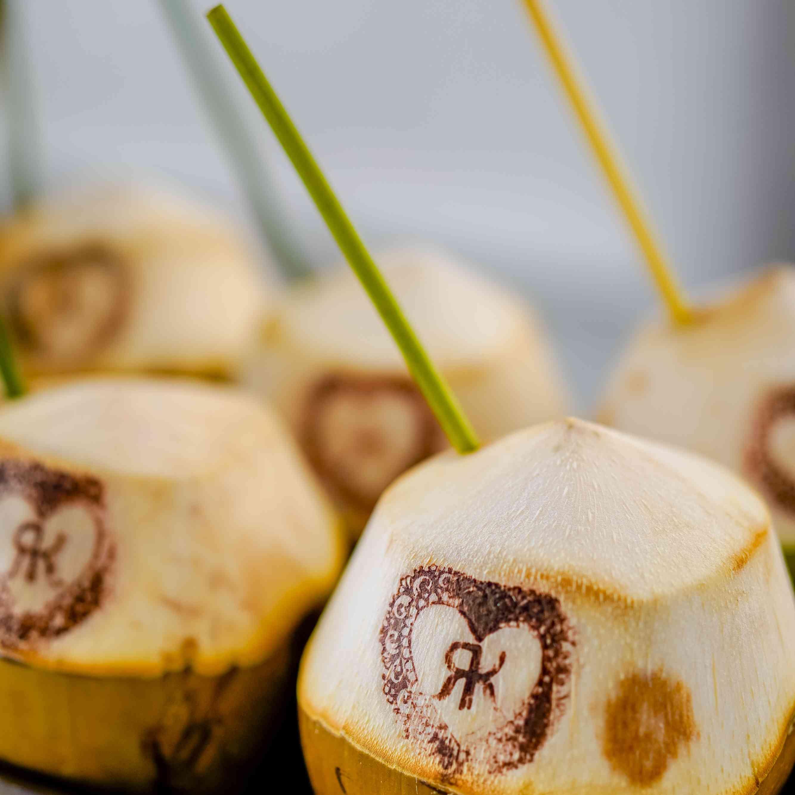 customized coconut drinks