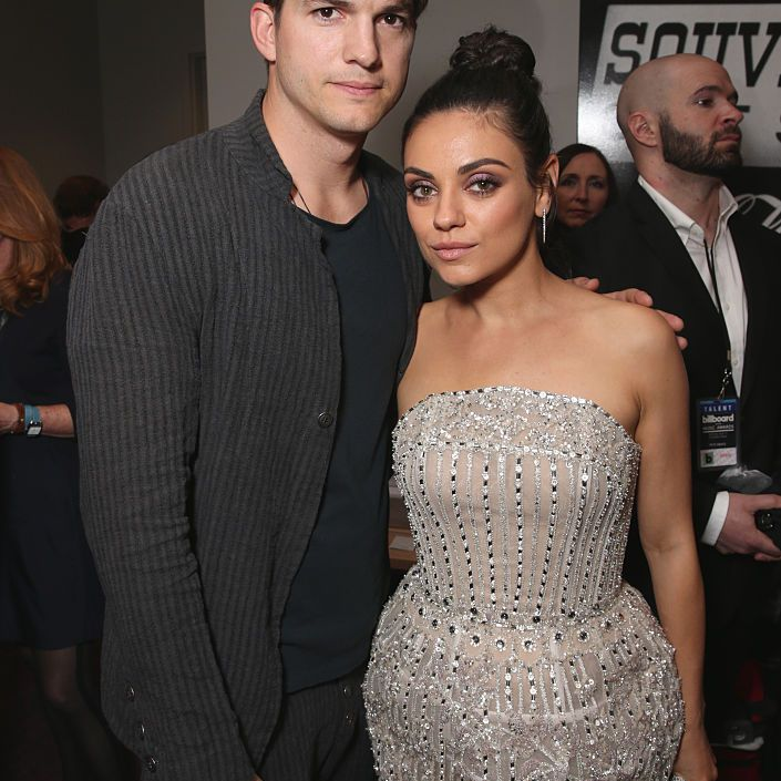 Actors Ashton Kutcher and Mila Kunis attend the 2016 Billboard Music Awards at T-Mobile Arena on May 22, 2016 in Las Vegas, Nevada.