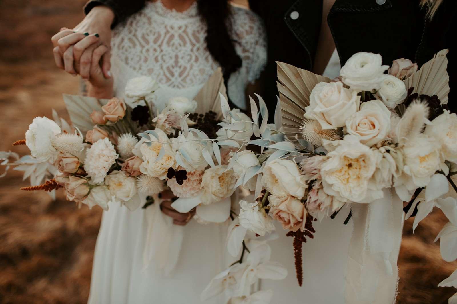 The brides' bouquets