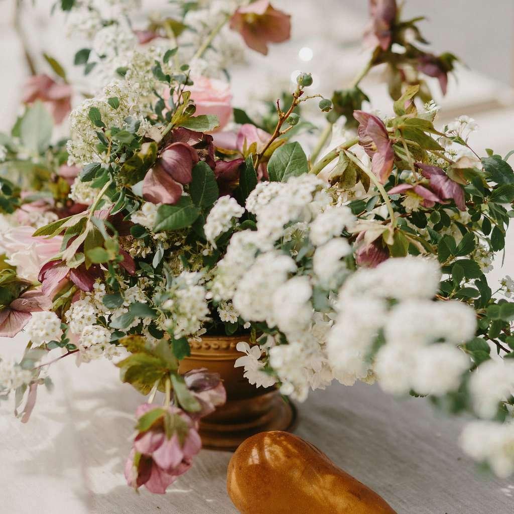 Wedding floral piece