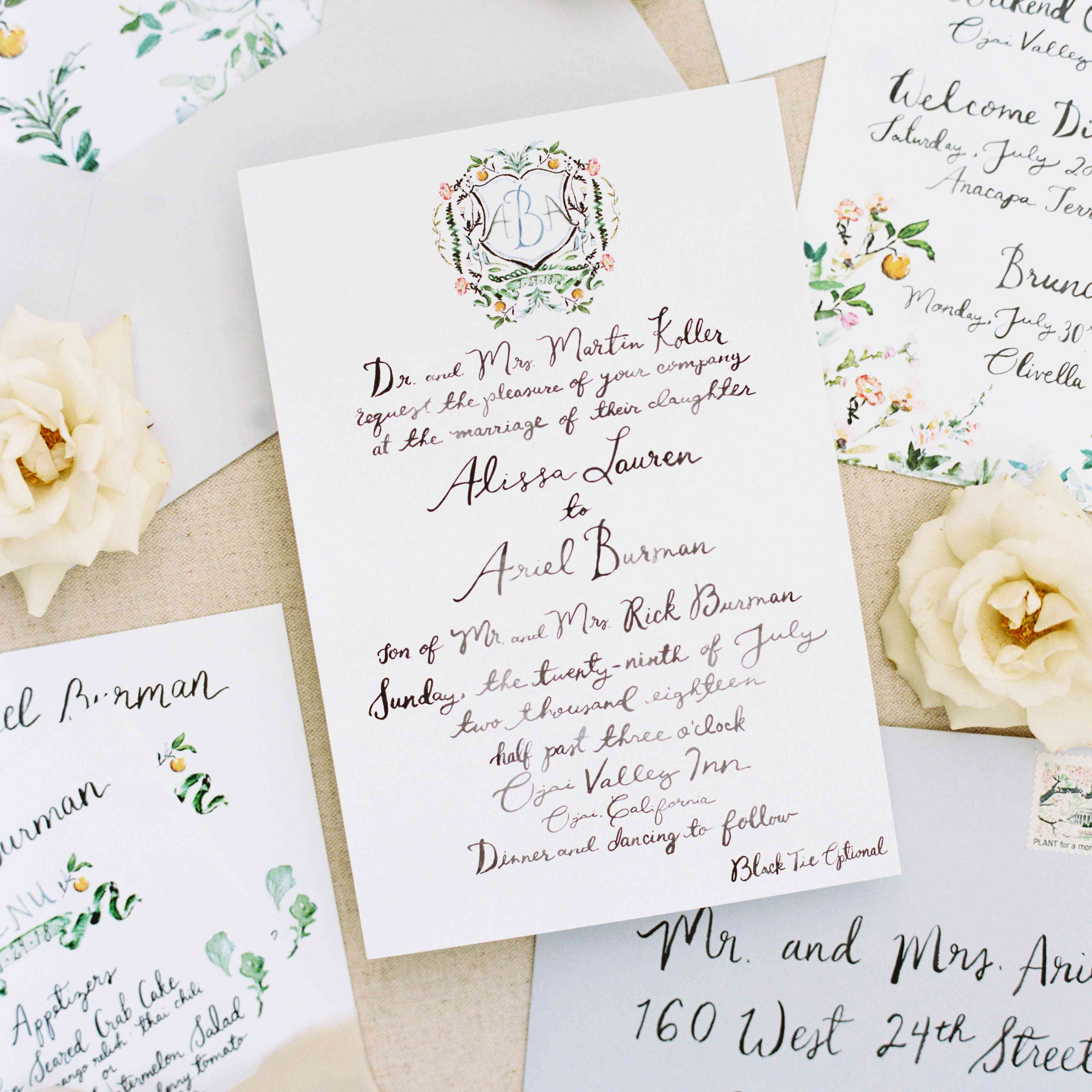 Wedding Invitation Sms Sample: A Romantic Garden Wedding At California's Ojai Valley Inn