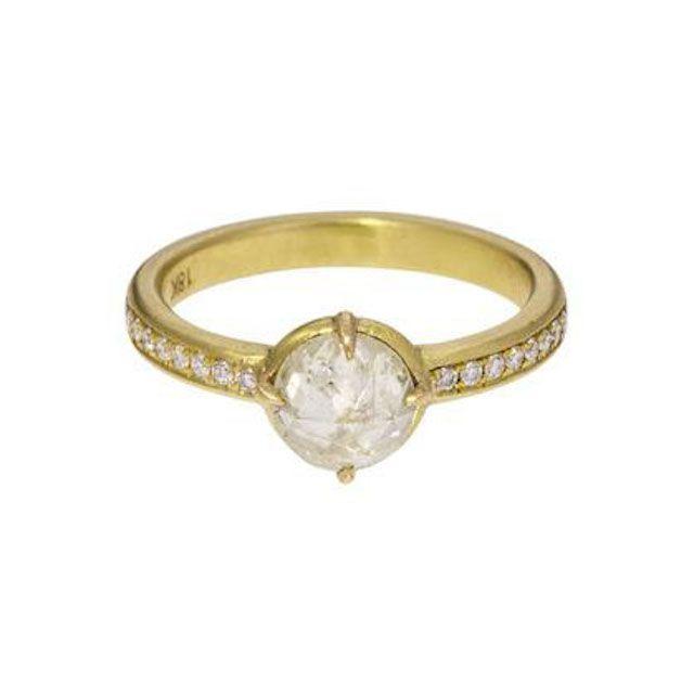 Mandrel Studio White Rustic Diamond Ring