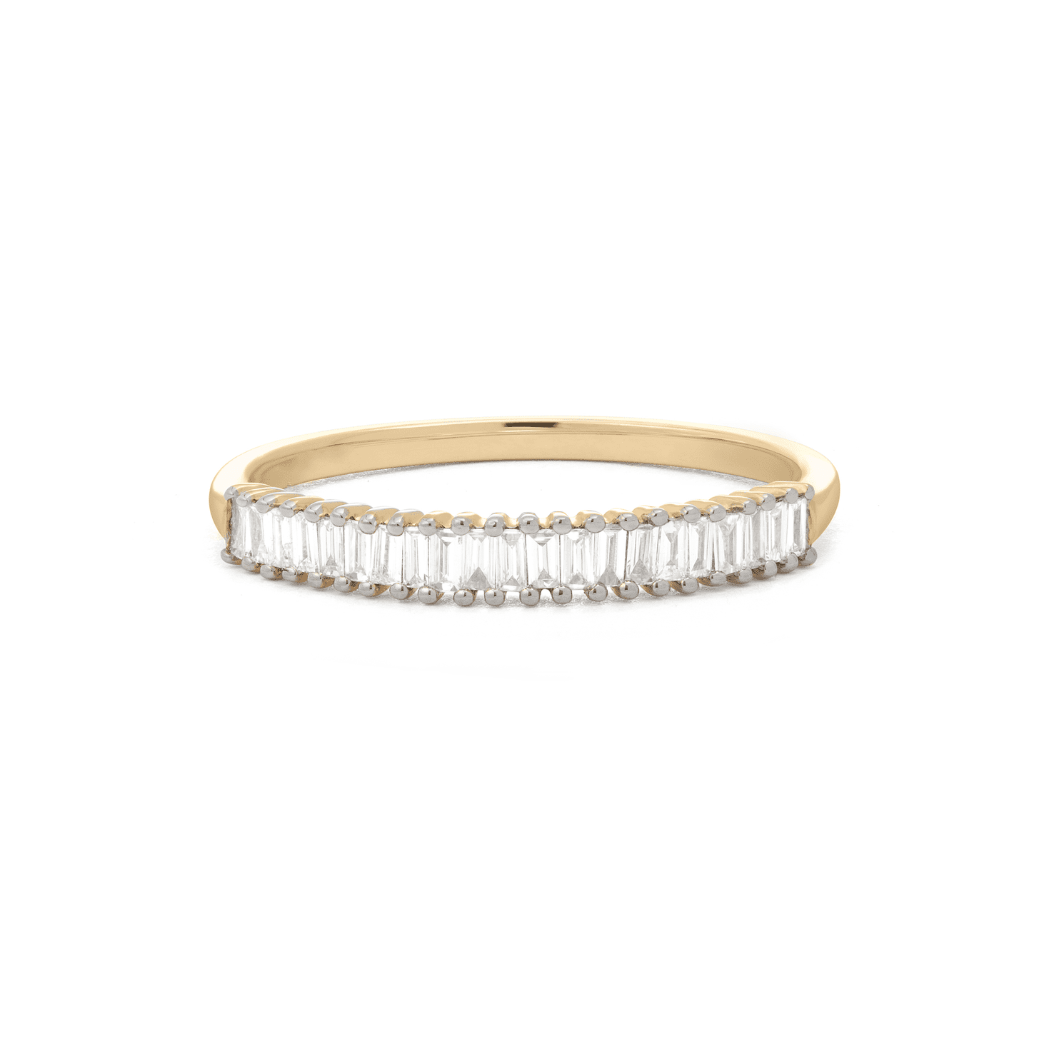 Up And Down Baguette Diamond Line Band