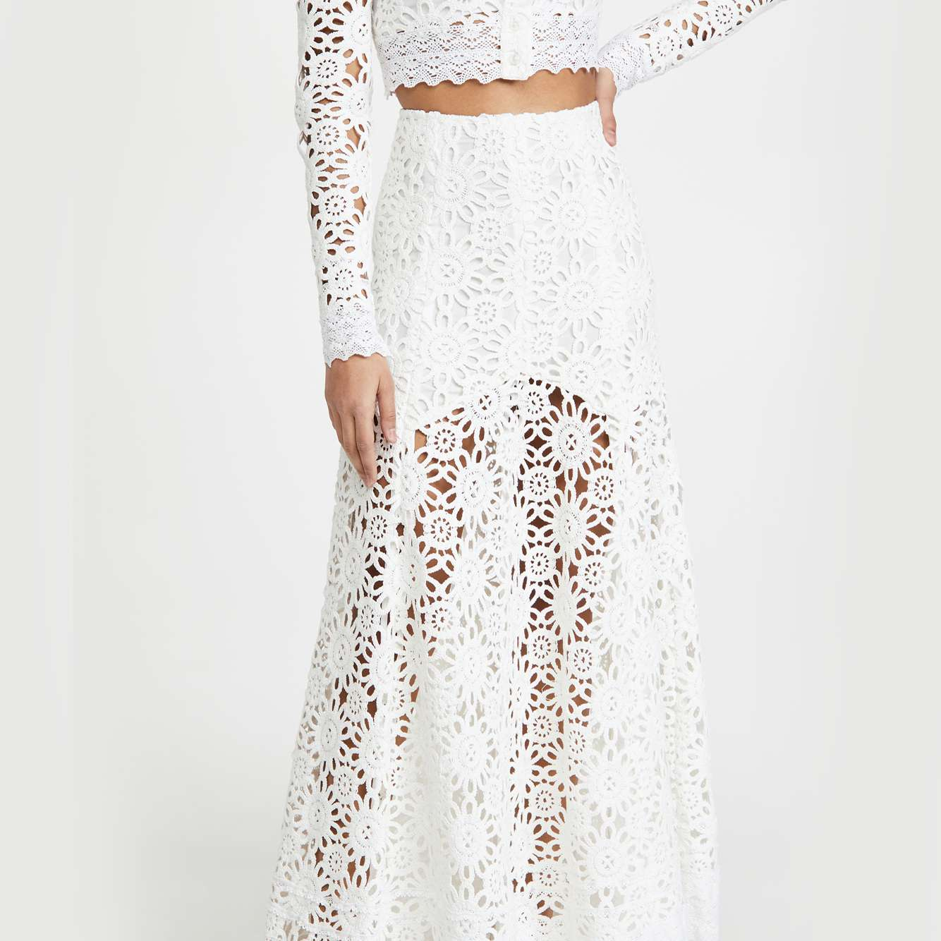 lace skirt and top