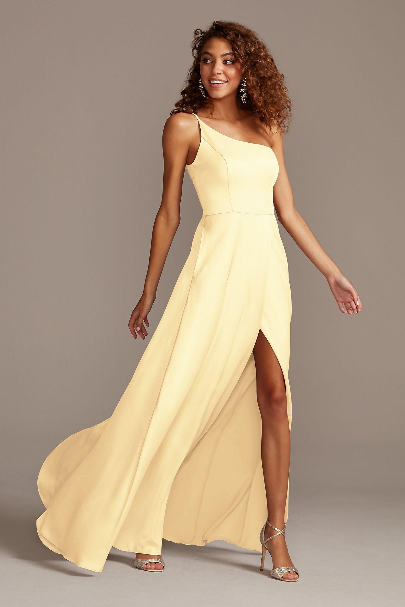 Satin One-Shoulder Bridesmaid Dress