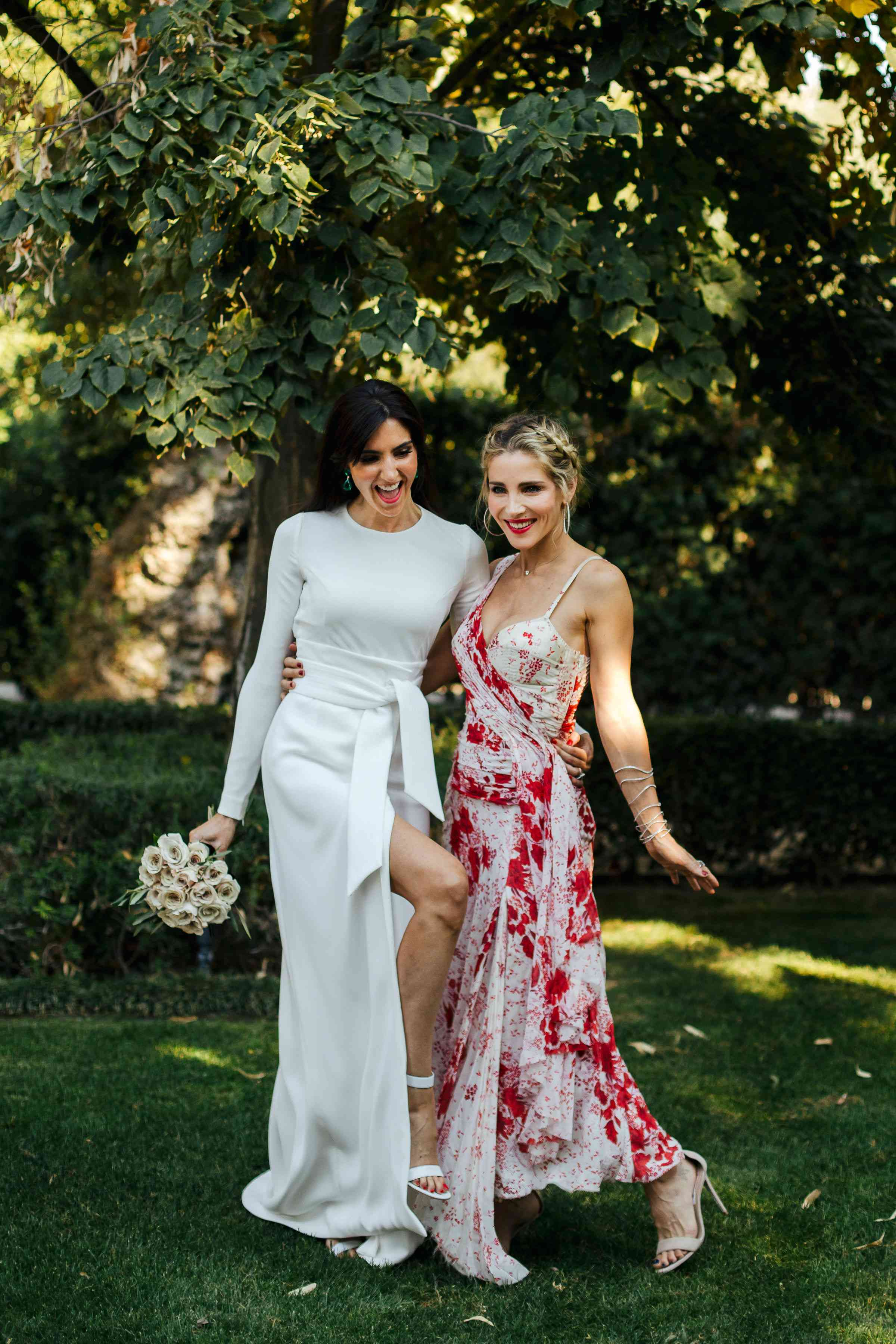 bride with bridesmaid